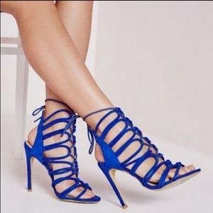 Zara Basic Collection blue high heels size 40